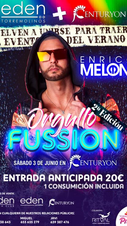 Enrico Meloni en Orgullo Fussion