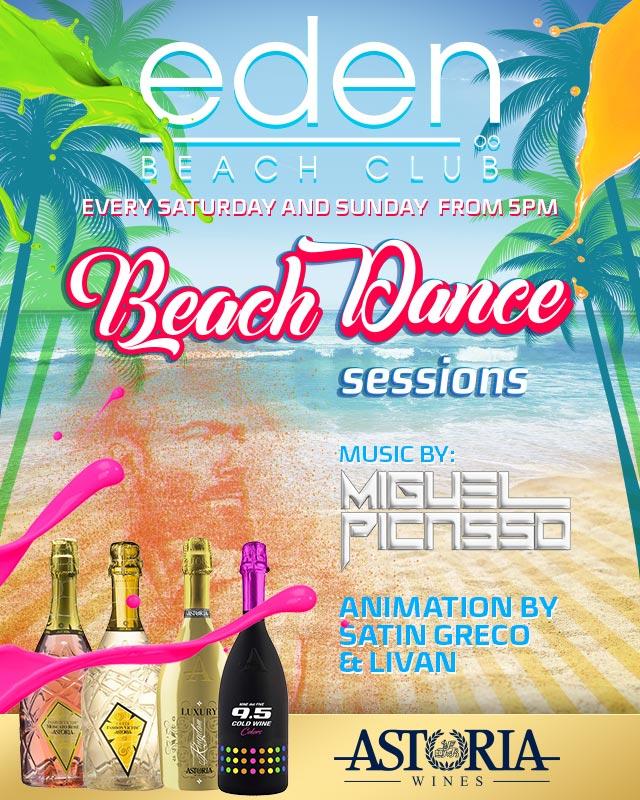 Beach Dance Sessions cada sábado y domingo a partir de las 17h en EDEN BEACH CLUB