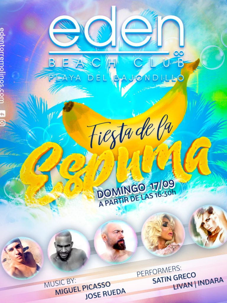 Fiesta de la Espuma en EDEN BEACH CLUB